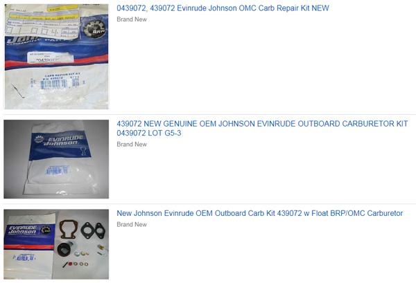 439072 / 0439072 Carburetor Rebuild Kit