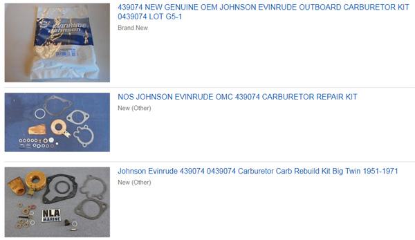 439074 / 0439074 Carburetor Rebuild Kit