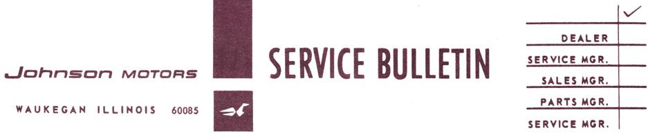 Johnson Evinrude Service Bulletin SB-1429